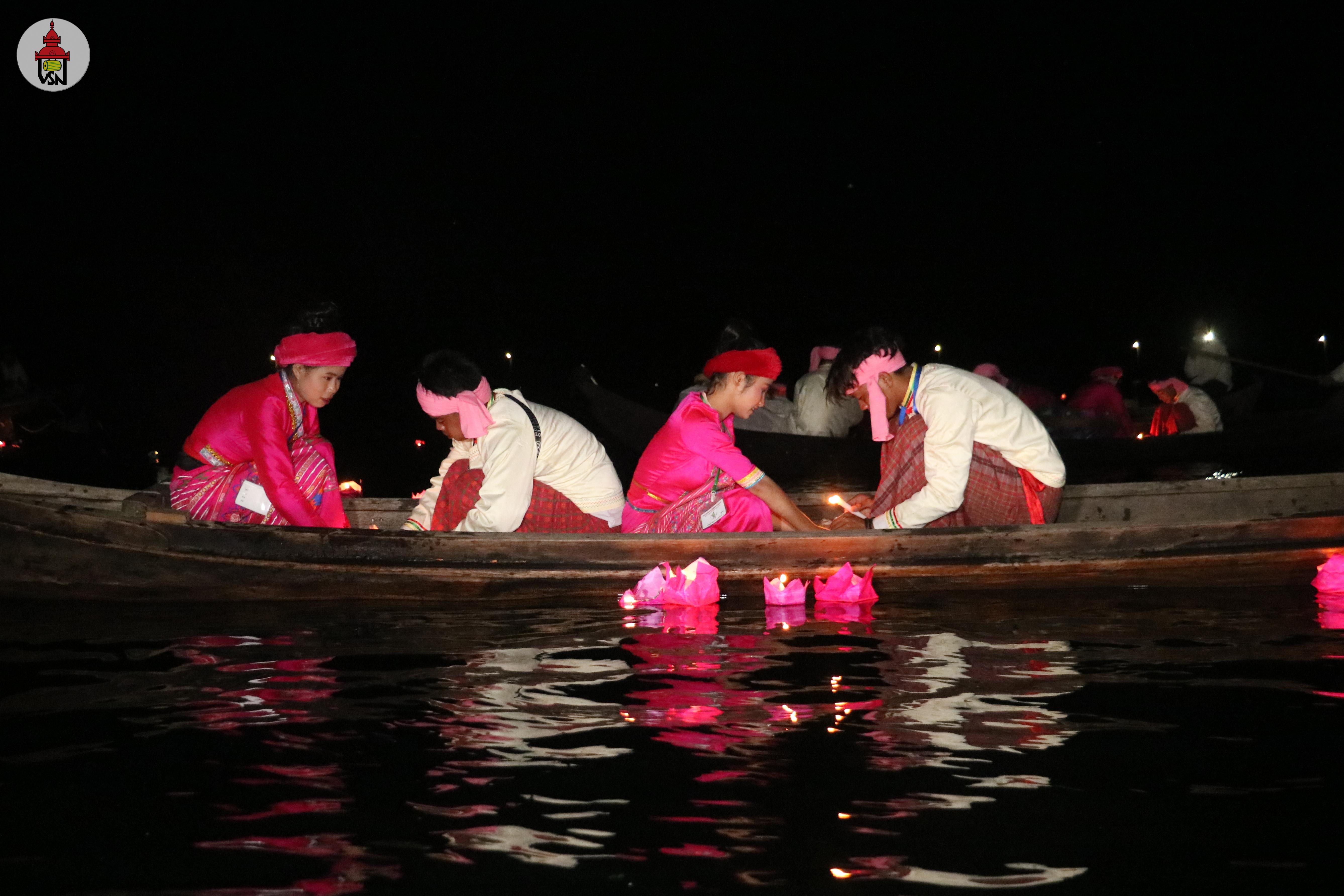 နွဲပျော်ခဲ့ရသော ရှမ်းနီရိုးရာ ဆီမီးမျှောပွဲတော်