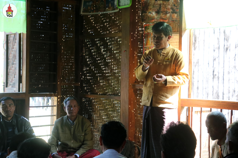 ဟိုပင်မြို့နယ်ခွဲတွင်းရှိ ရှမ်းနီပါတီဆိုင်းဘုတ်များပြန်လည်စိုက်ထူခြင်းနှင့် လူထုတွေ့ဆုံပွဲ ပြုလုပ်